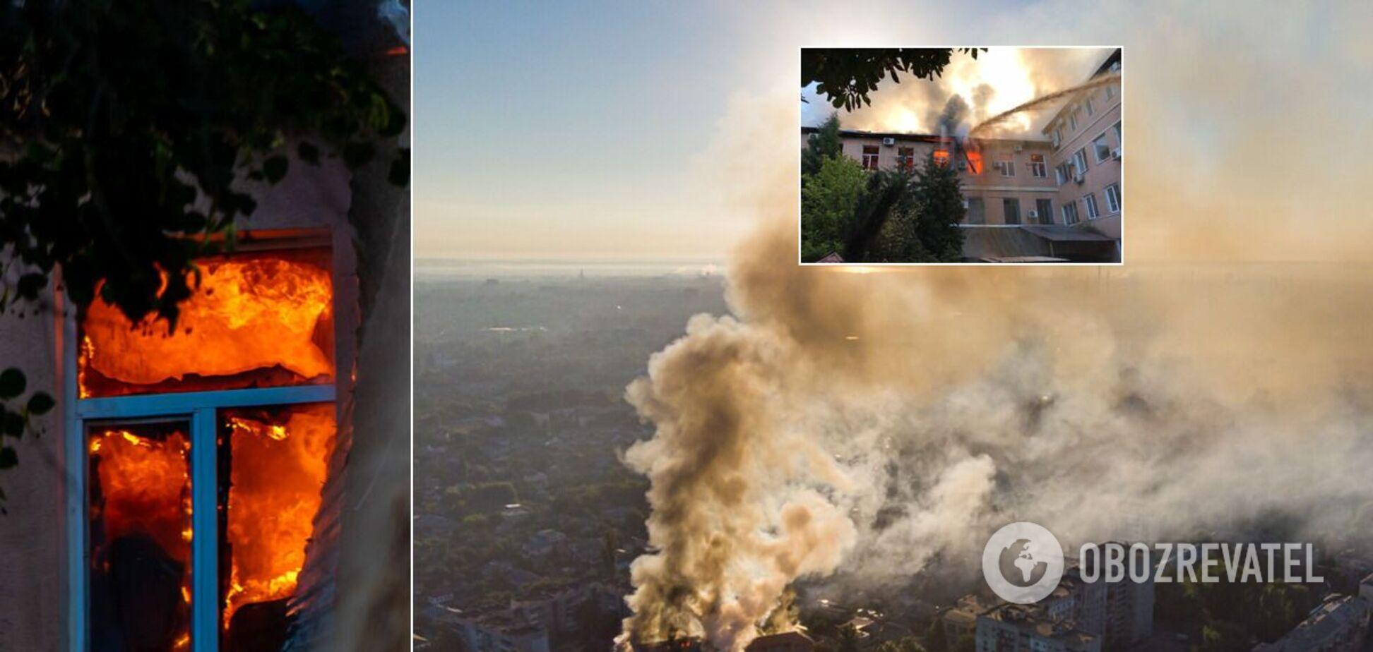 У Дніпрі трапилася масштабна пожежа: над містом стояв стовп диму. Фото