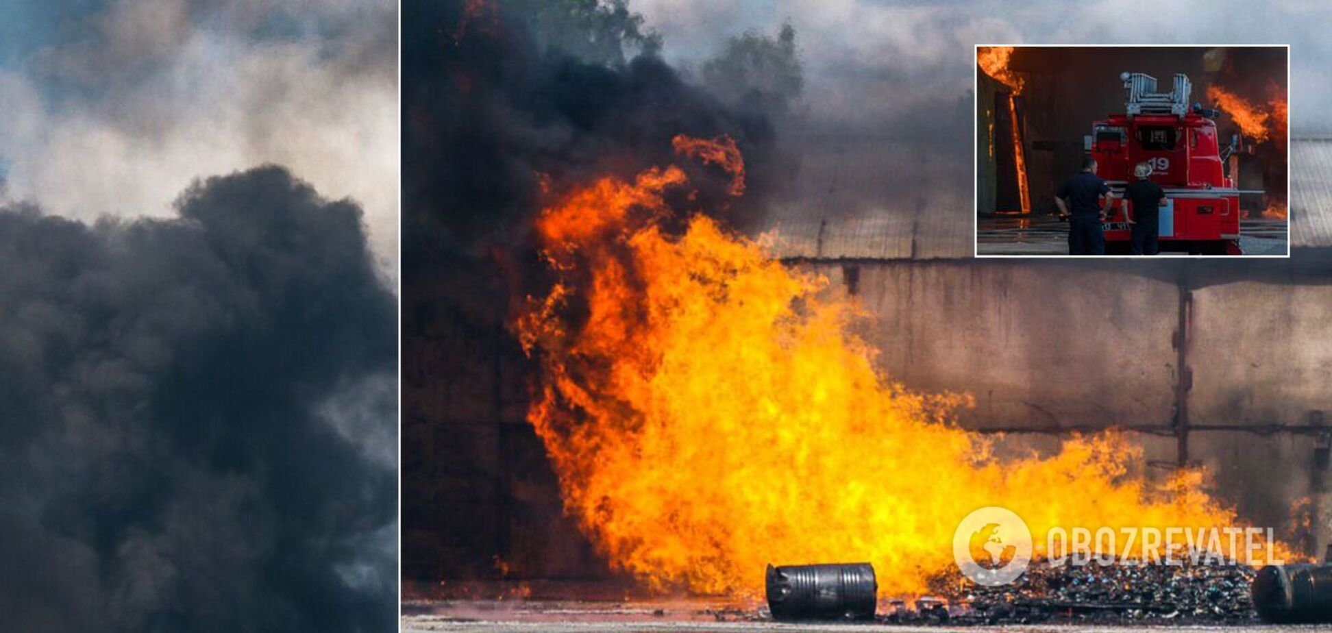 У Дніпрі горіли склади з хімікатами: людей евакуювали. Фото і відео з місця НП