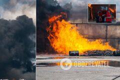 В Днепре горели склады с химикатами: людей эвакуировали. Фото и видео с места ЧП