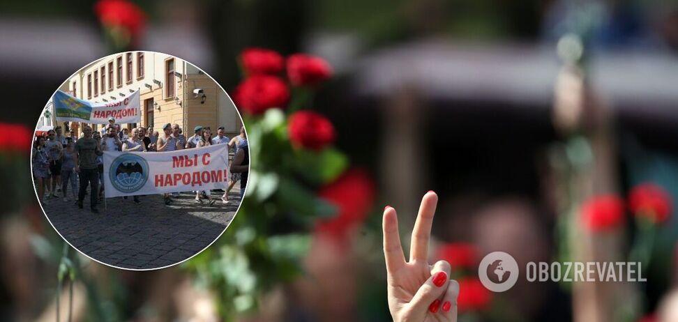 Бійці ВДВ підтримали мітингувальників