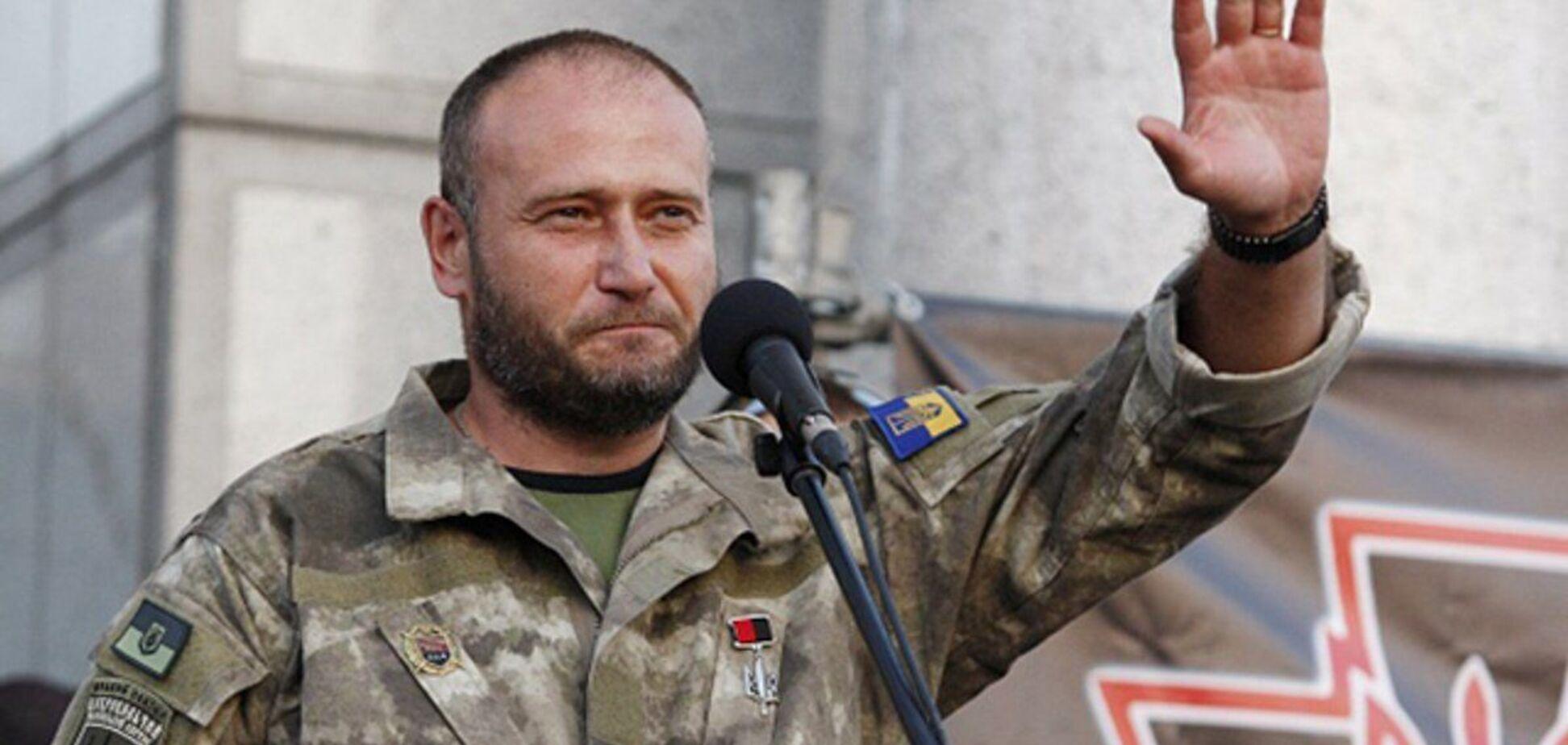 Командующий Украинской добровольческой армии и народный депутат Дмитрий Ярош