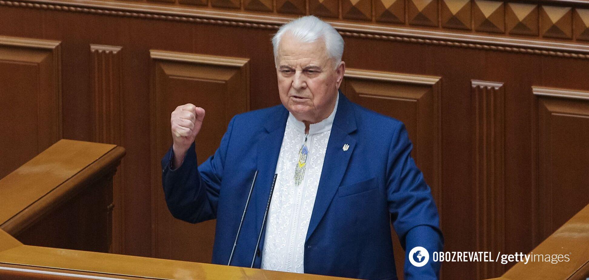 Кравчук визнав, що миротворча місія може призвести до 'заморозки' війни на Донбасі