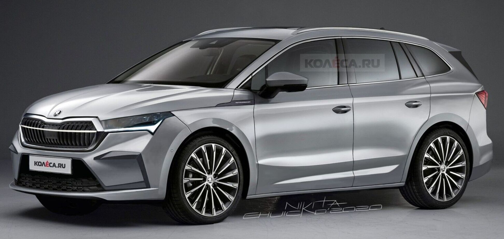 Так будет выглядеть серийный электромобиль Skoda. Фото: kolesa.ru