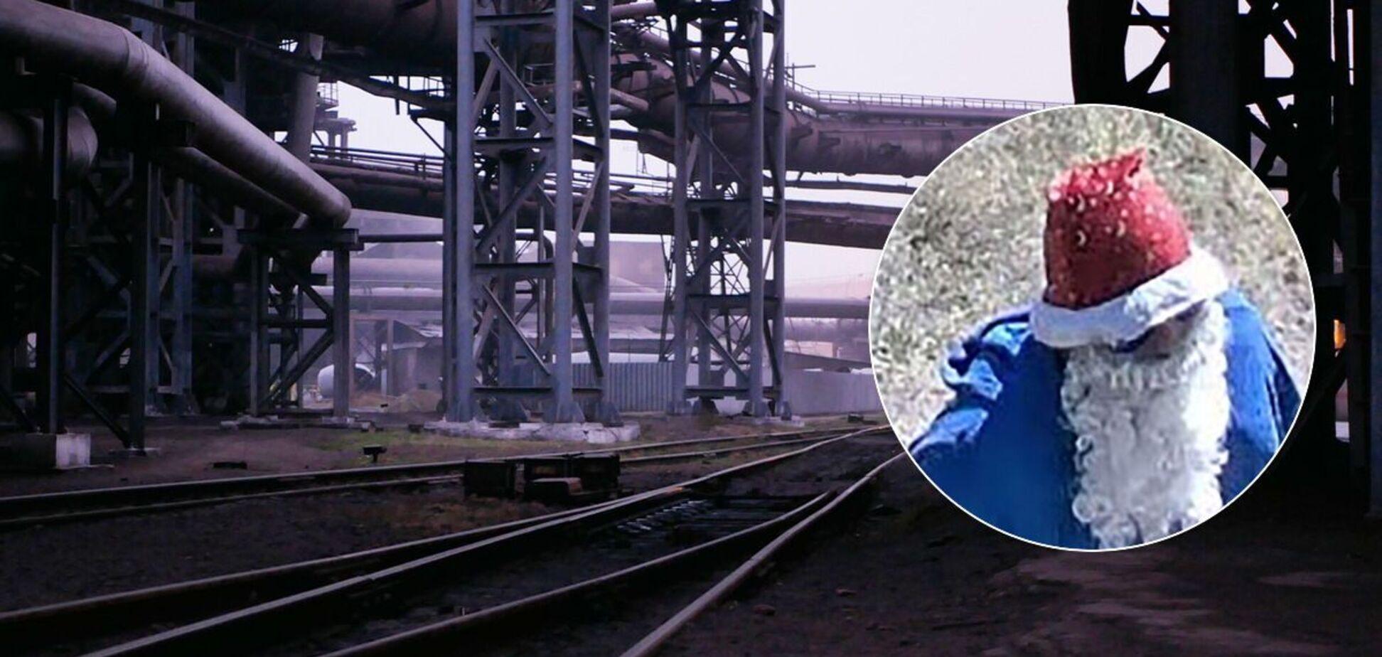 Невідомий в костюмі Діда Мороза обстріляв охоронця металургійного комбінату в Маріуполі