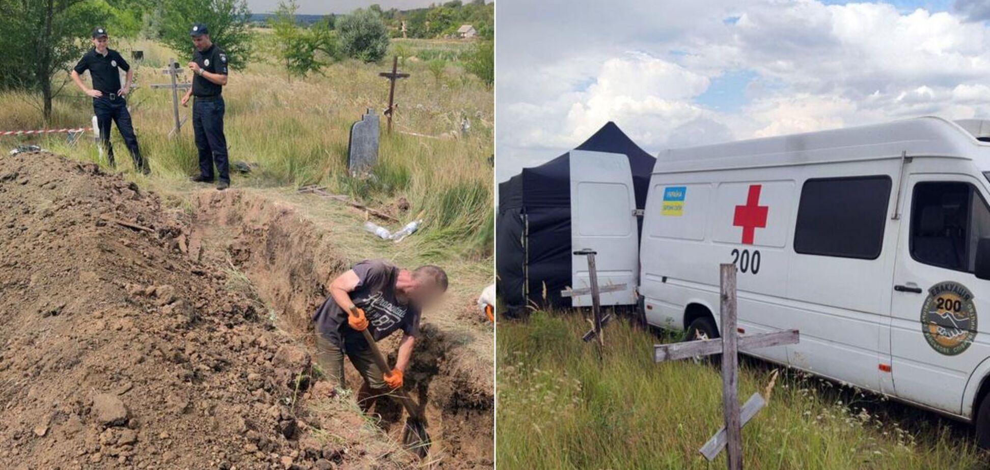 У Слов'янську провели ексгумацію тіл загиблих під час боїв в 2014 році