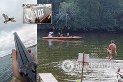 На Днепропетровщине охотники устроили стрельбу рядом с детским пляжем. Видео