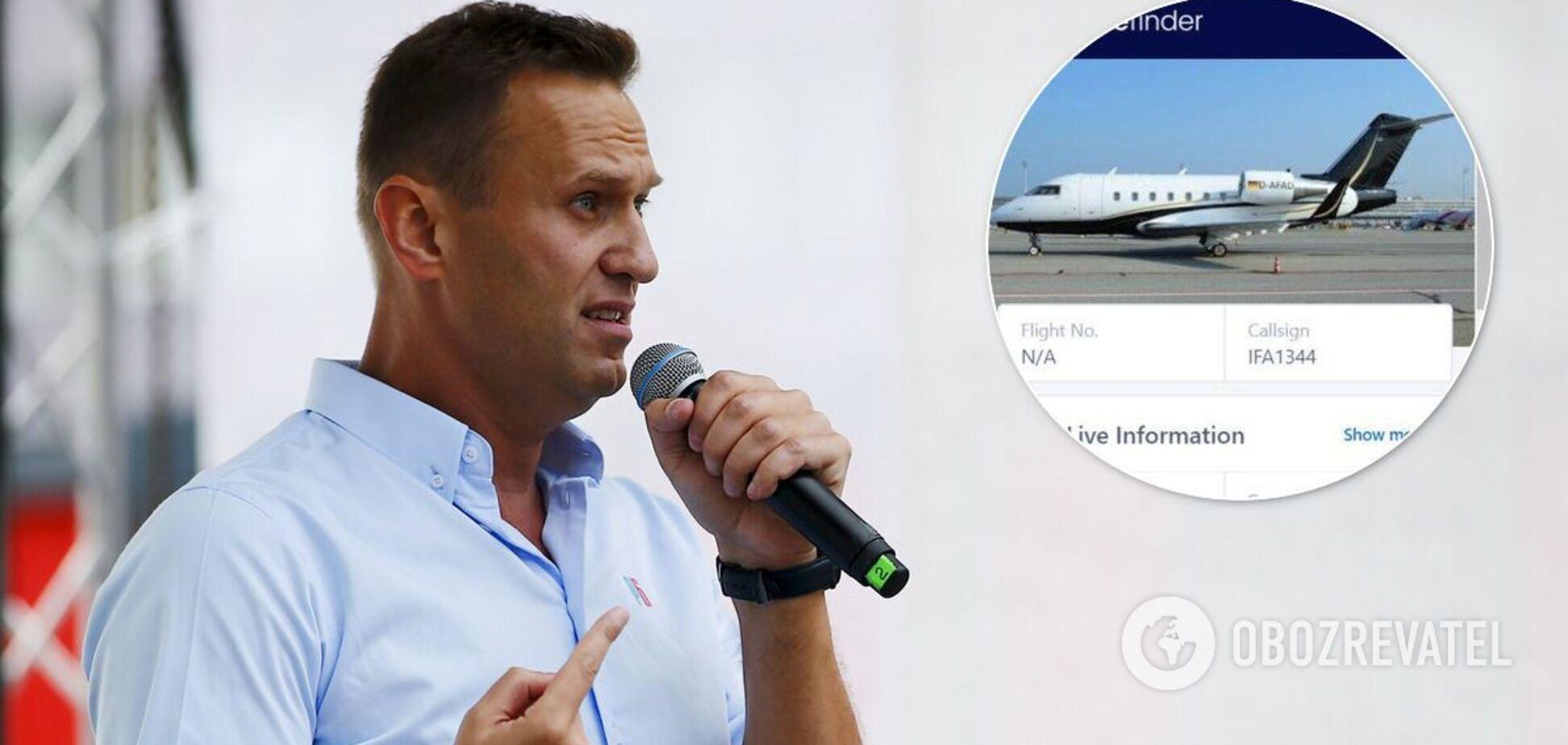 За Навальным прилетел самолет из Германии