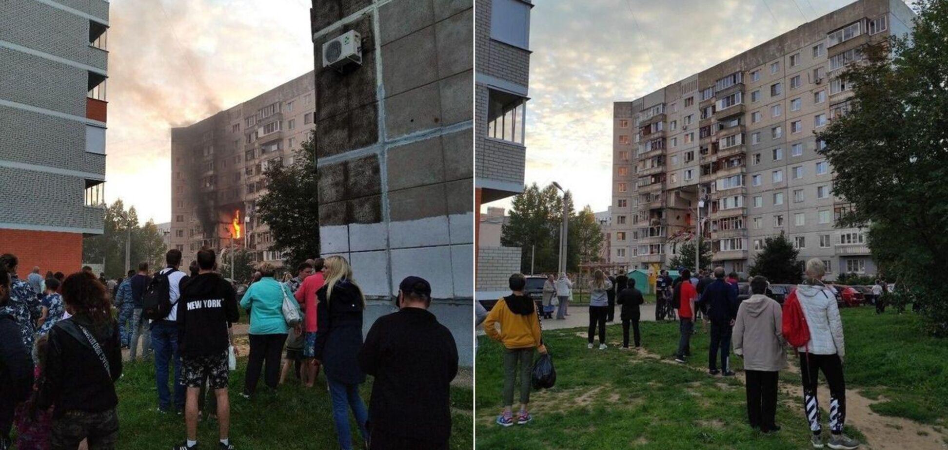 У Ярославлі вибух газу зруйнував кілька поверхів у житловому будинку, є жертва і поранені. Фото і відео з місця НП
