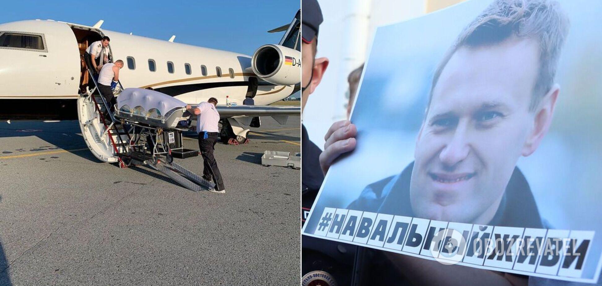 Самолет с Навальным таки улетел в Берлин
