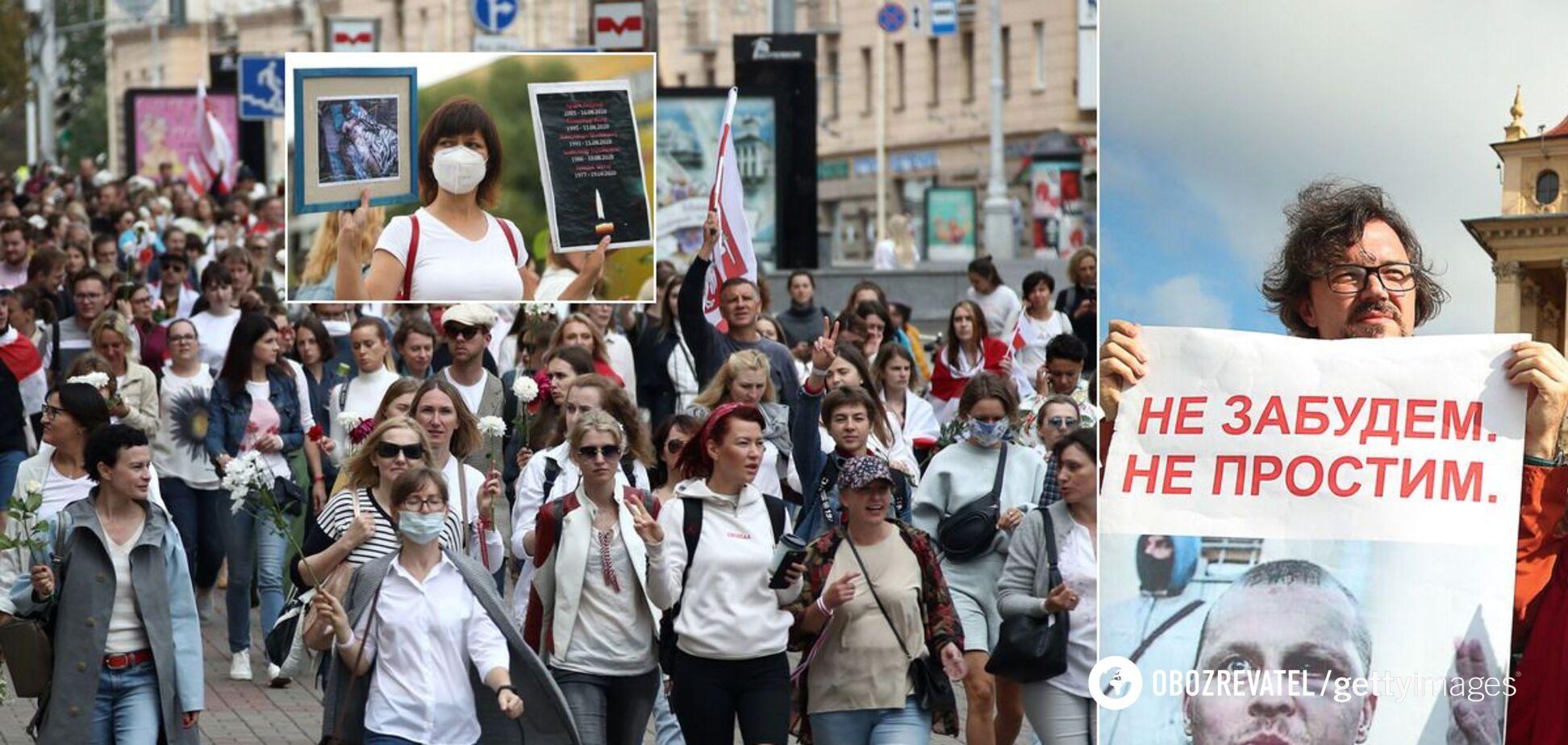 В Минске тысячи людей вышли на протест
