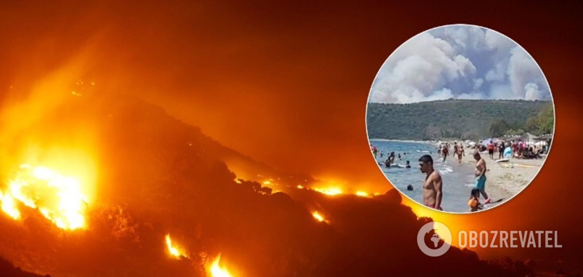 В Мани из-за лесного пожара эвакуируют деревни