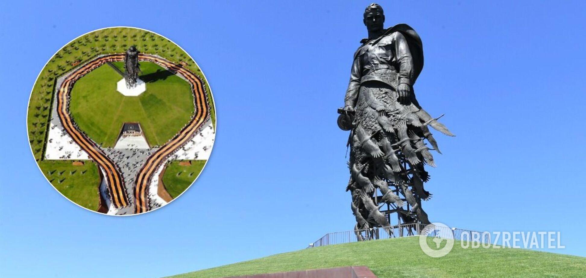 В РФ развернули гигантскую георгиевскую ленту