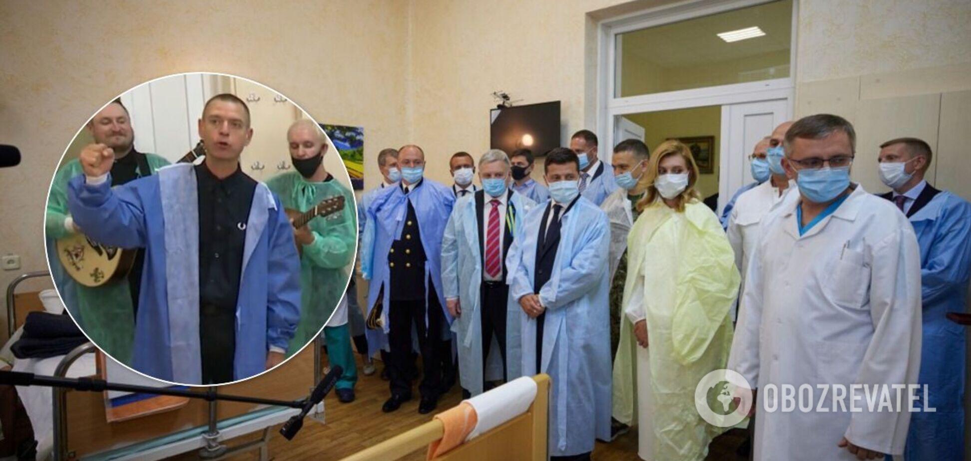 Міхалок і Зеленський відвідали поранених захисників України