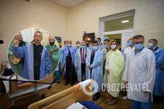 Михалок и Зеленский навестили раненых защитников Украины