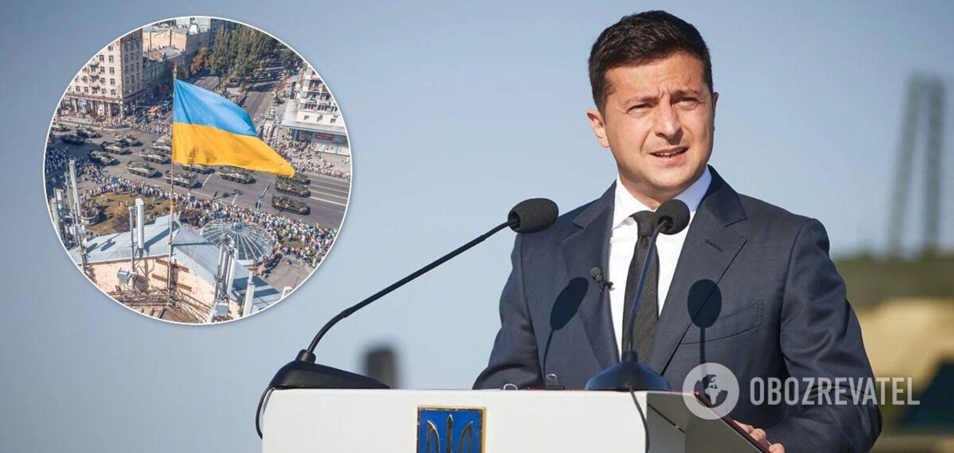 Зеленский рассказал о большом военном параде в Украине