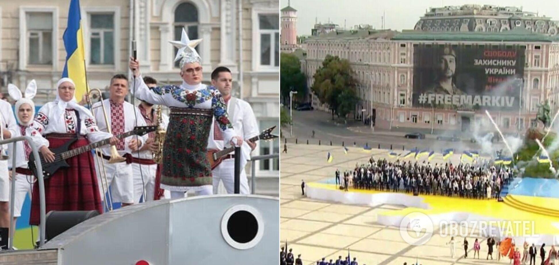 Украинские звезды исполнили попурри из известных хитов на День Независимости