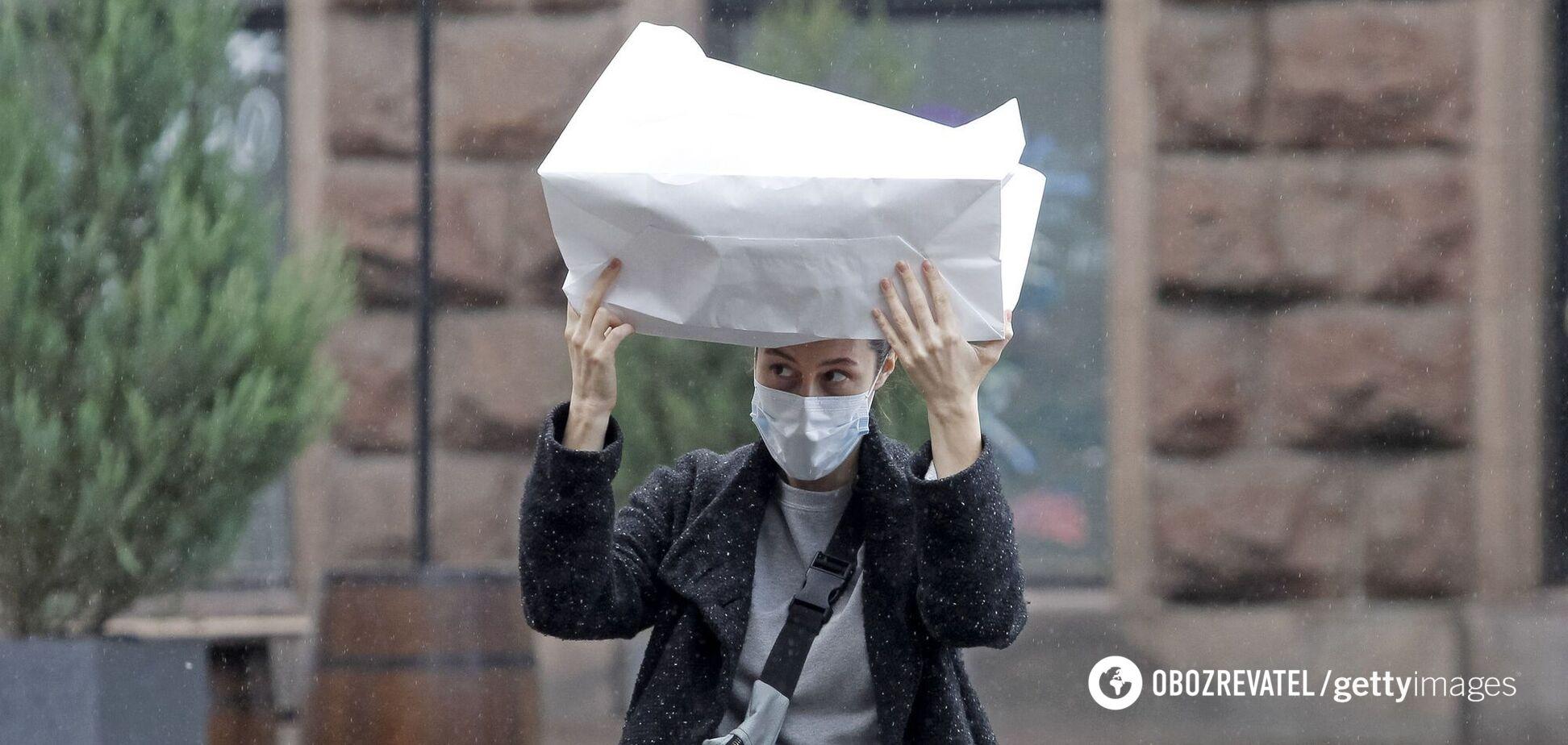 Киев залило дождями