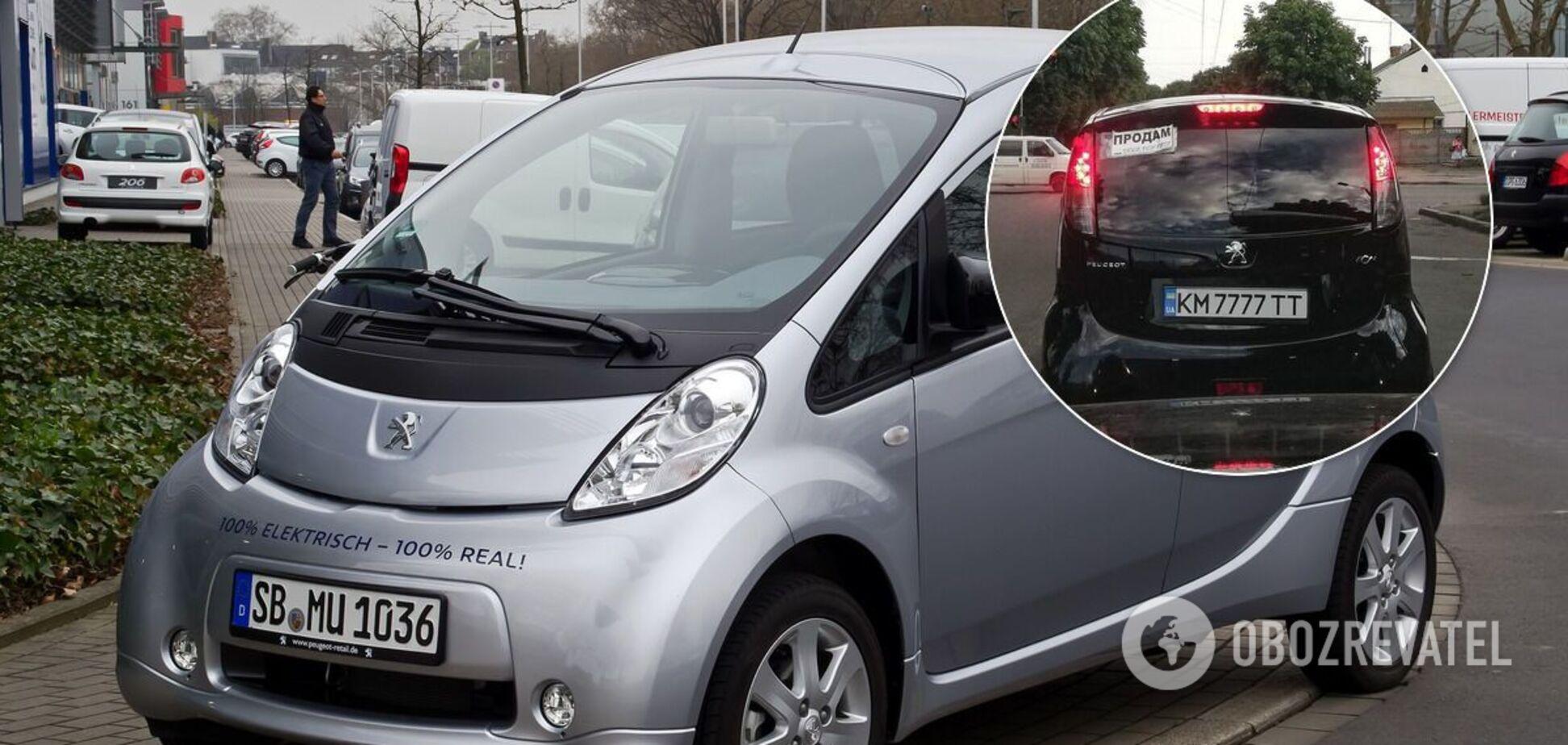 В Украине продают редкий электромобиль на 'блатных' номерах