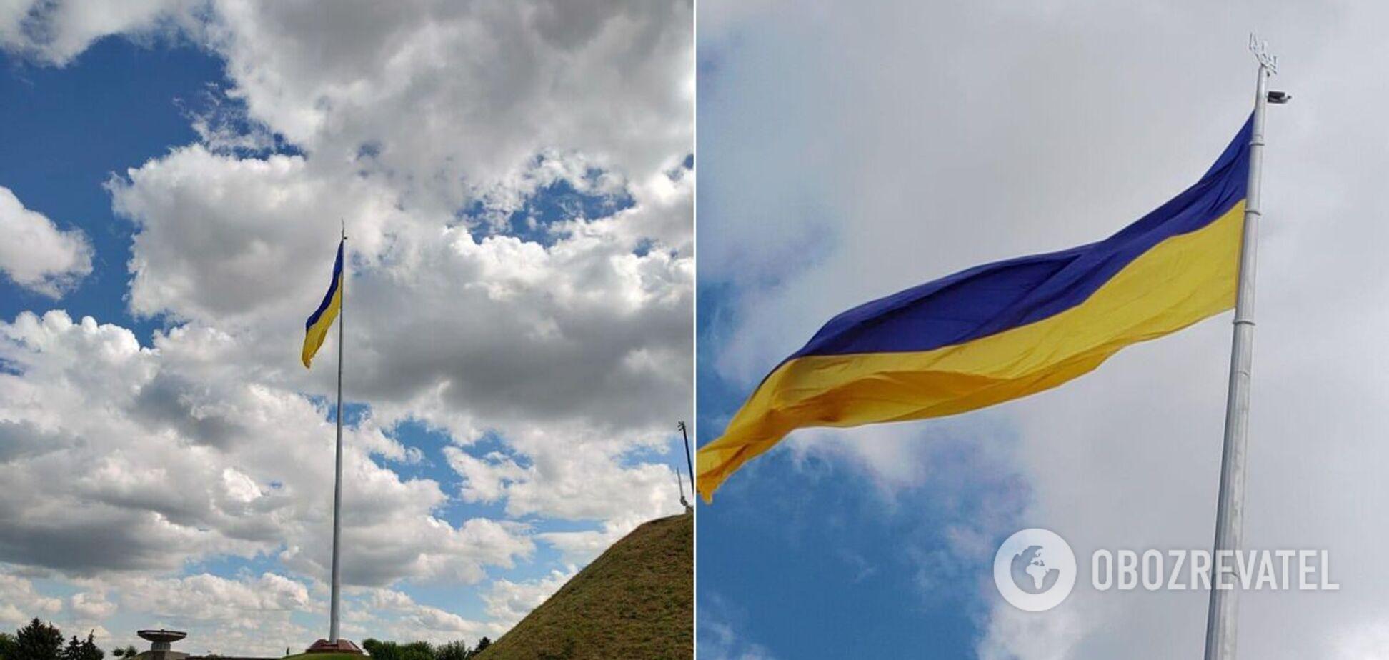 Кличко прокоментував 'пошкодження' головного прапора України