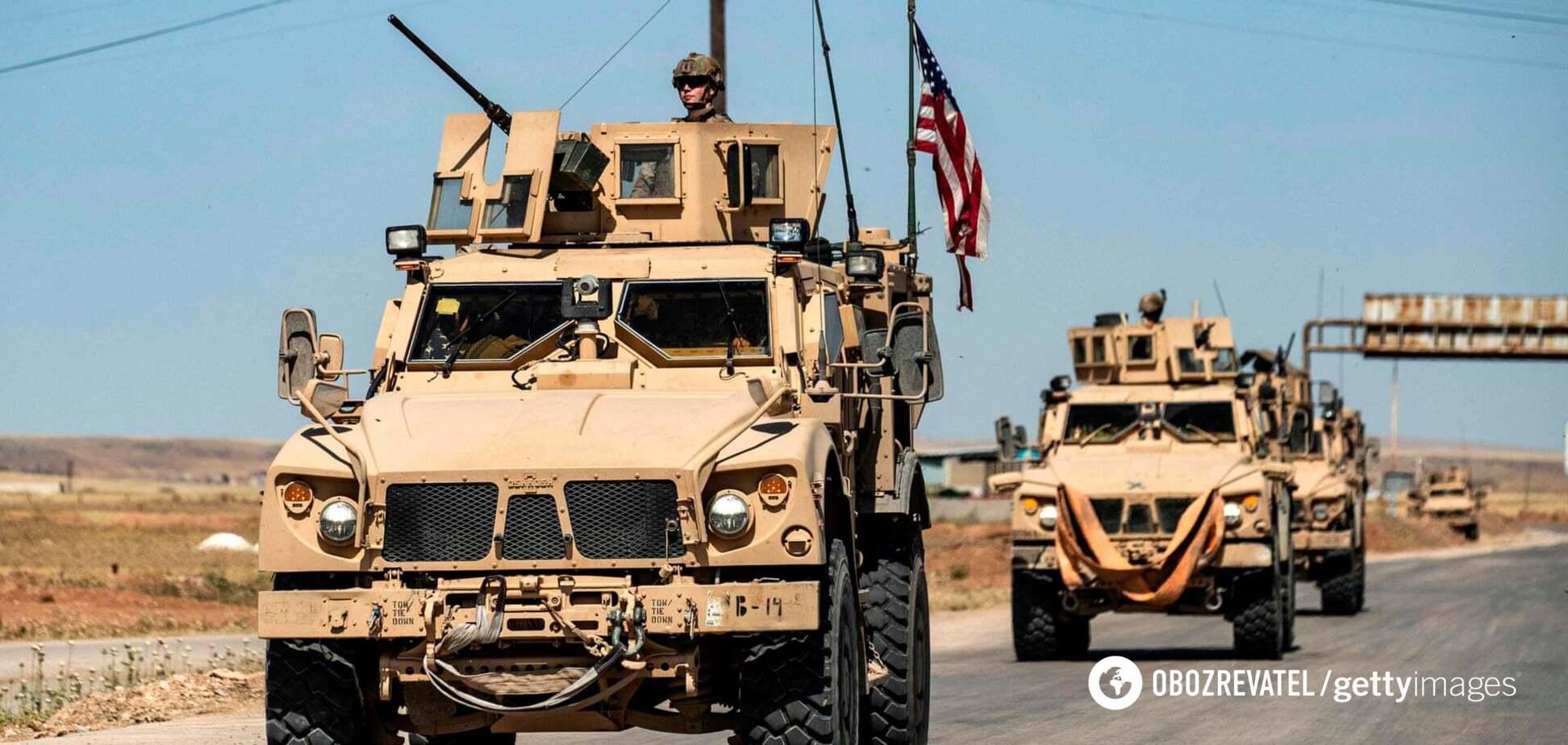 Российские военные протаранили машину армии США в Сирии