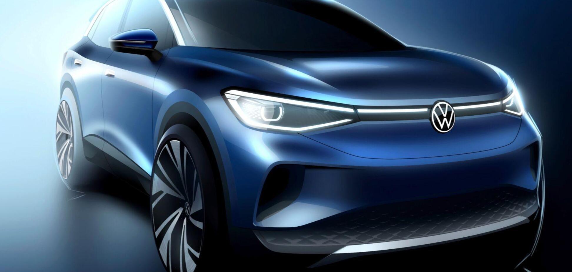 Электромобиль Volkswagen ID.4 показали на официальных изображениях. Фото: Volkswagen