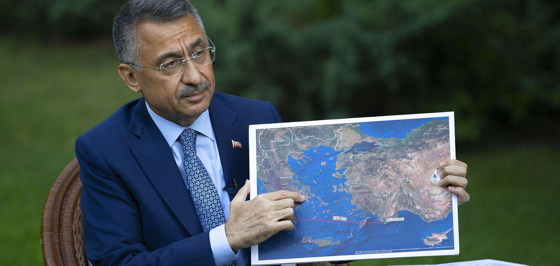 Віце-президент Туреччини заявив про спроби Греції розширити територіальні води