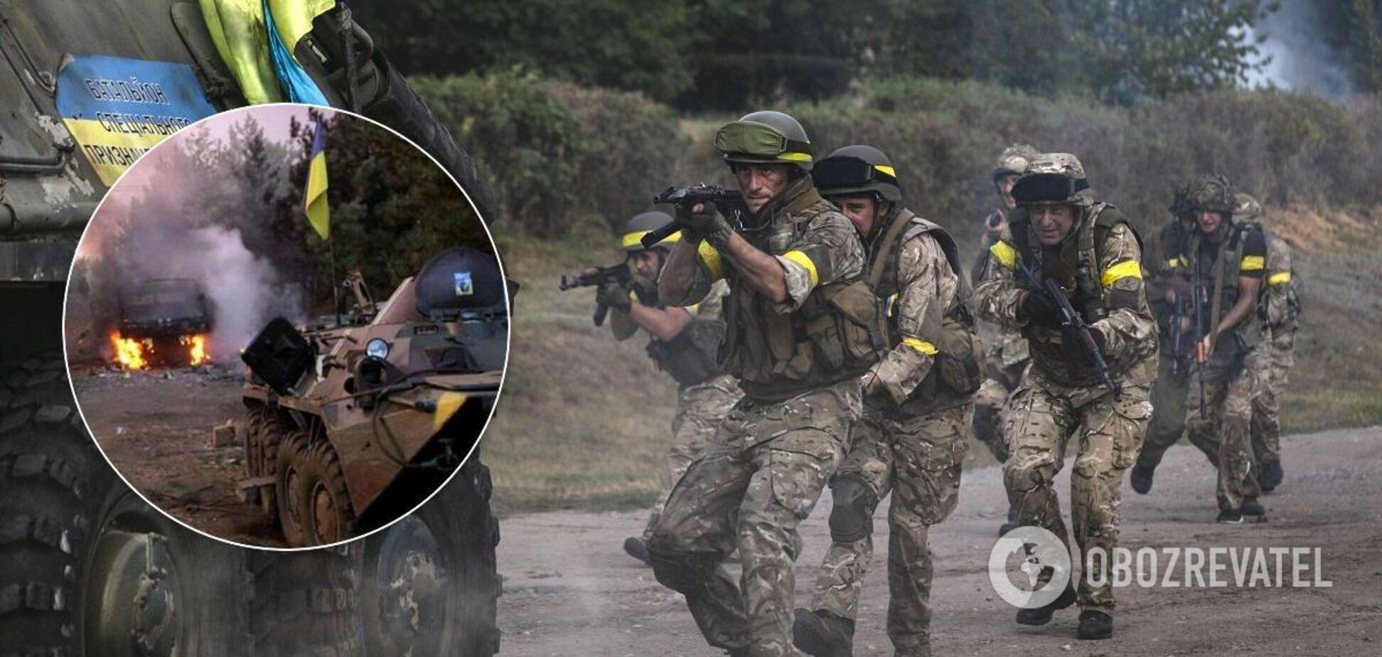 Колонну украинских военных расстреляли из всех видов вооружения