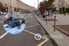Автомобиль горел в центре Киева