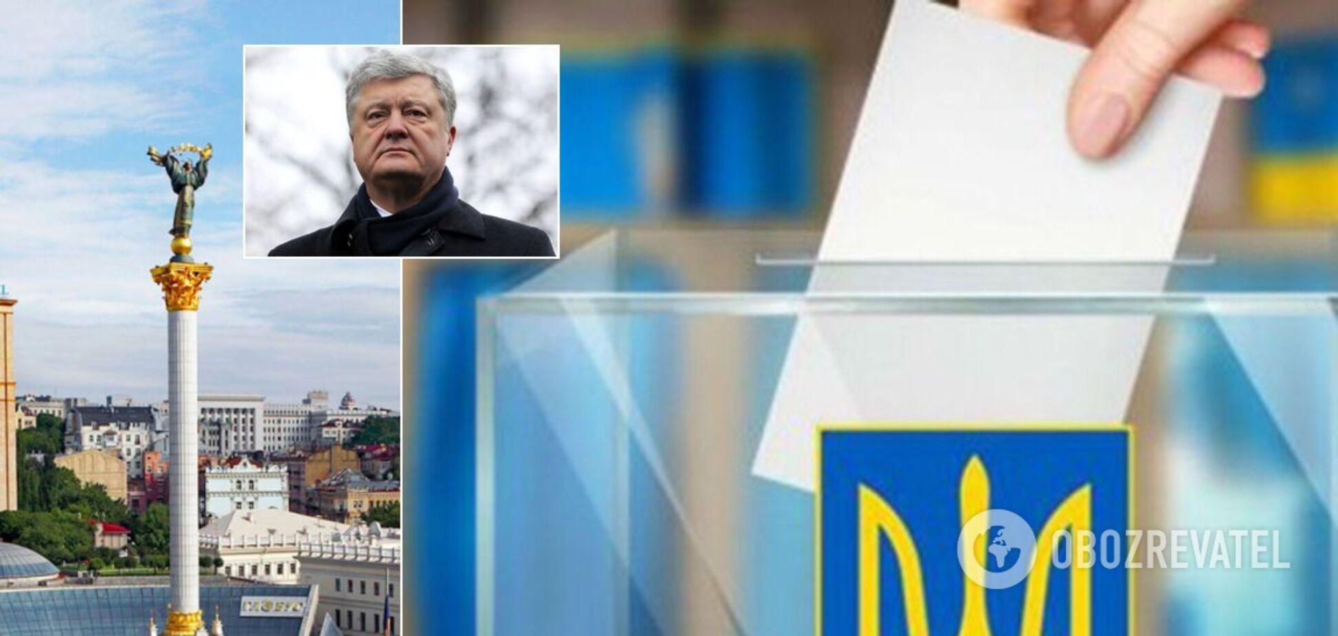 Партія Порошенка лідирує на виборах до Київради, позаду–'Слуга народу' та 'Удар' – опитування