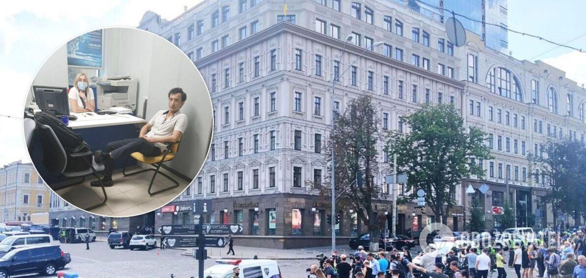 Мужчине, который угрожал взорвать банк в Киеве и взял заложницу, объявили подозрение
