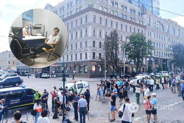 Захват банка в Киеве Каримовым