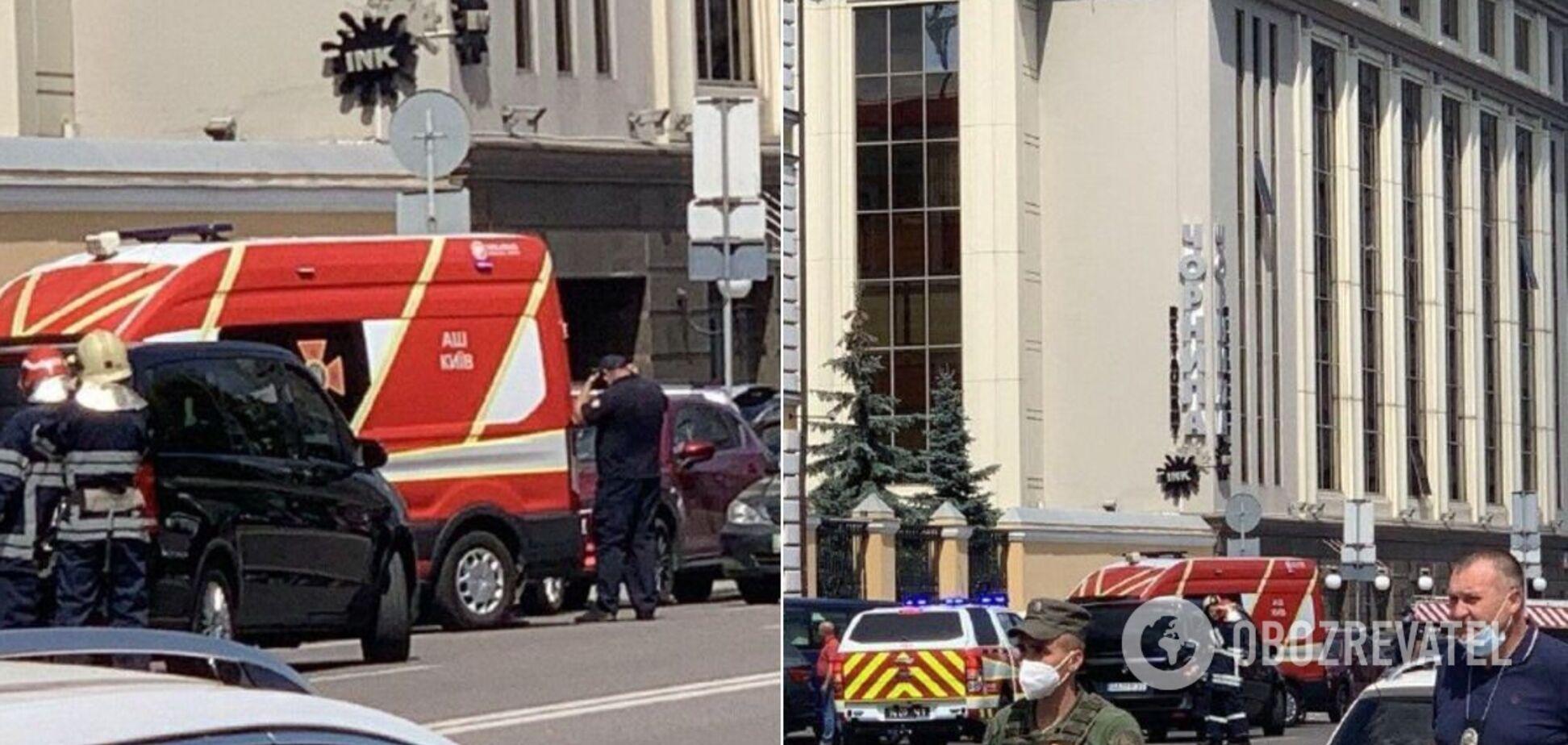 В Киеве террорист захватил банк: появились первые фото и видео с места ЧП