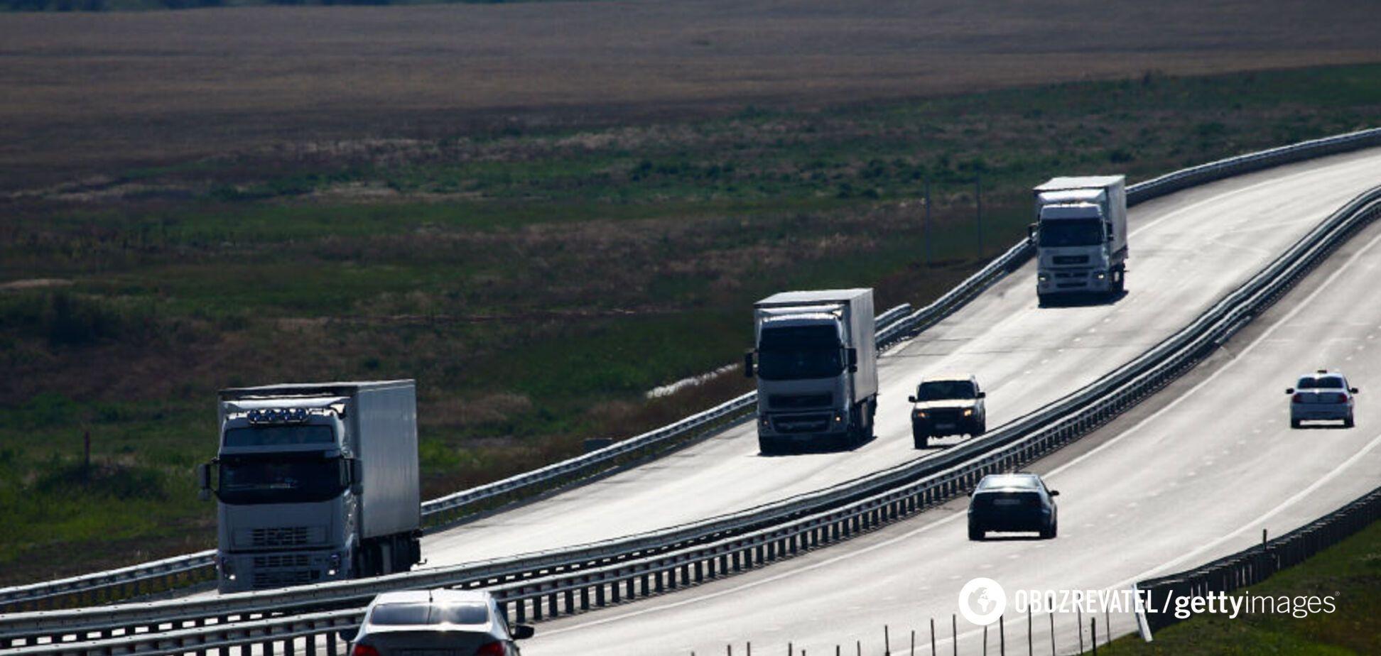 Дорога в оккупированном Крыму