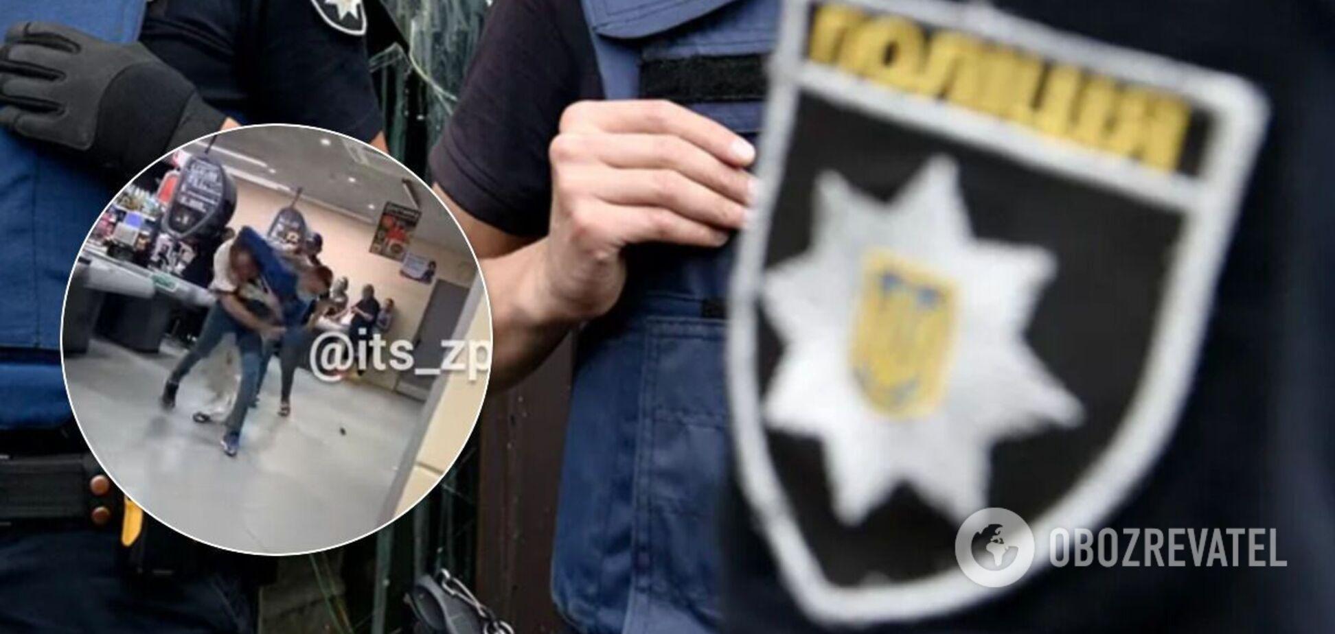 Полиция задержала дебошира в запорожском супермаркете