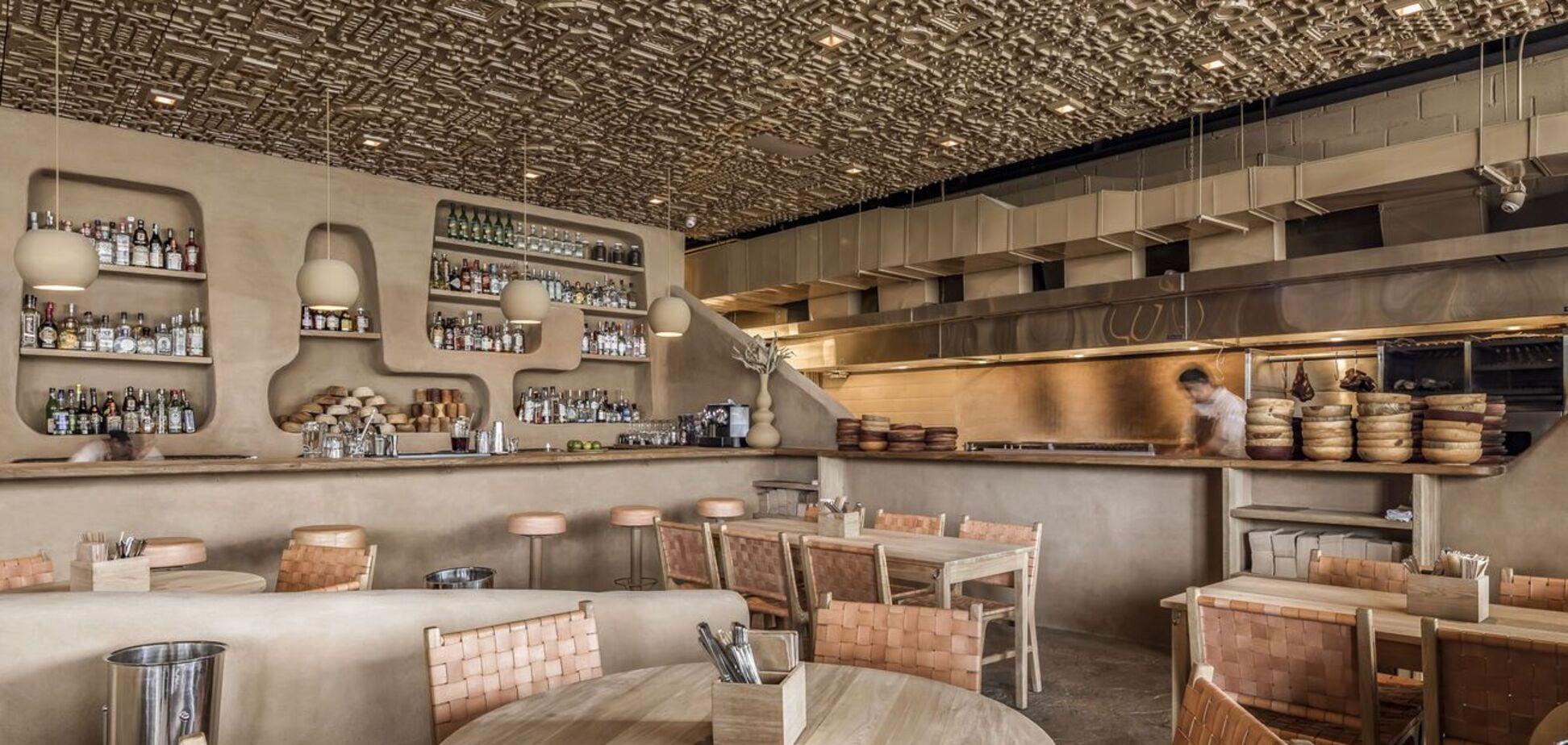 Дизайн в стиле майя: необычное архитектурное решение для мексиканского ресторана. Фото