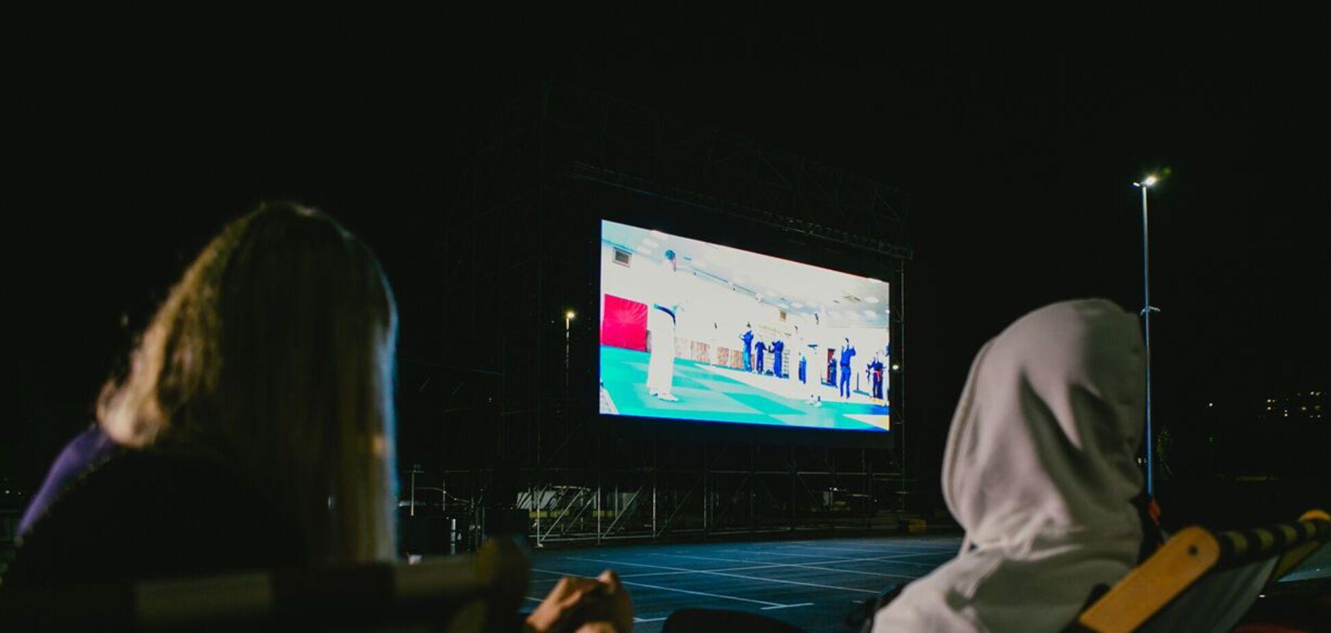 Дарья Белодед и Денис Попов во время презентации фильма 'Анаконда'