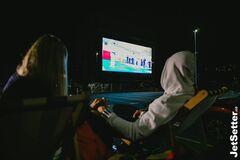 Дарина Білодід і Денис Попов під час презентації фільму 'Анаконда'