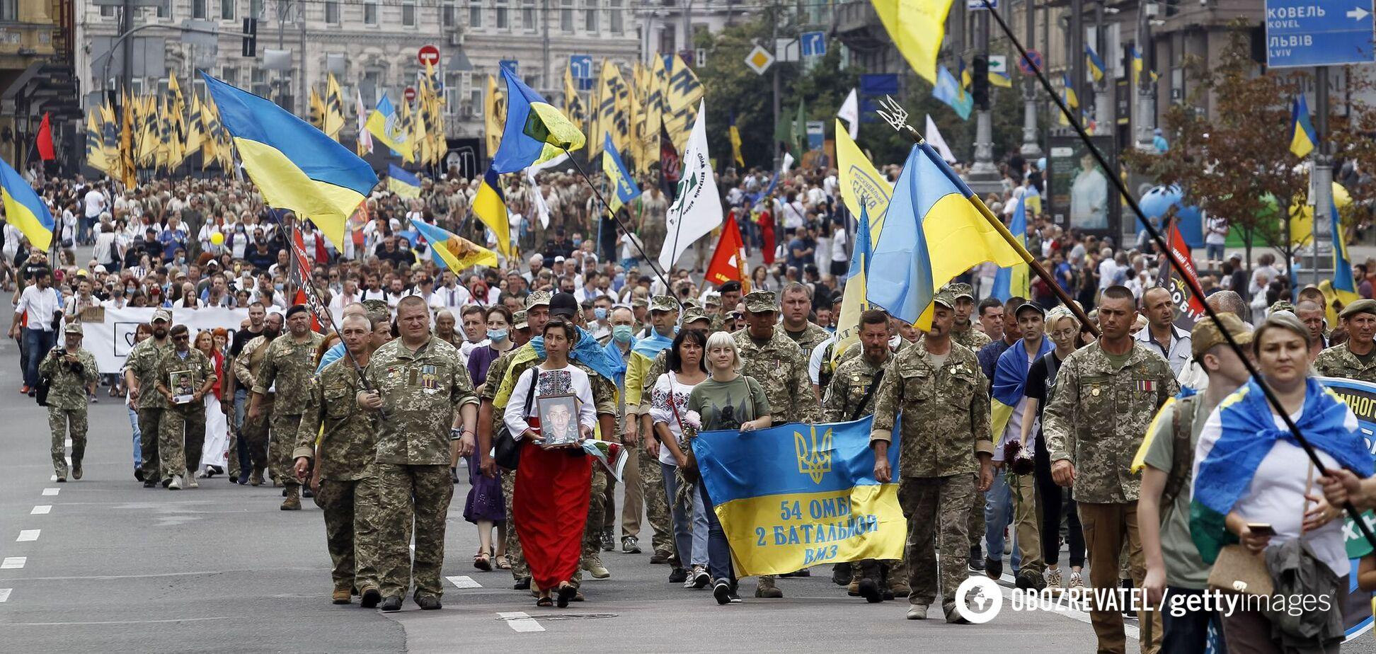 Марш ко Дню Независимости в Киеве