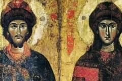 Святые Борис и Глеб были младшими сыновьями князя Владимира