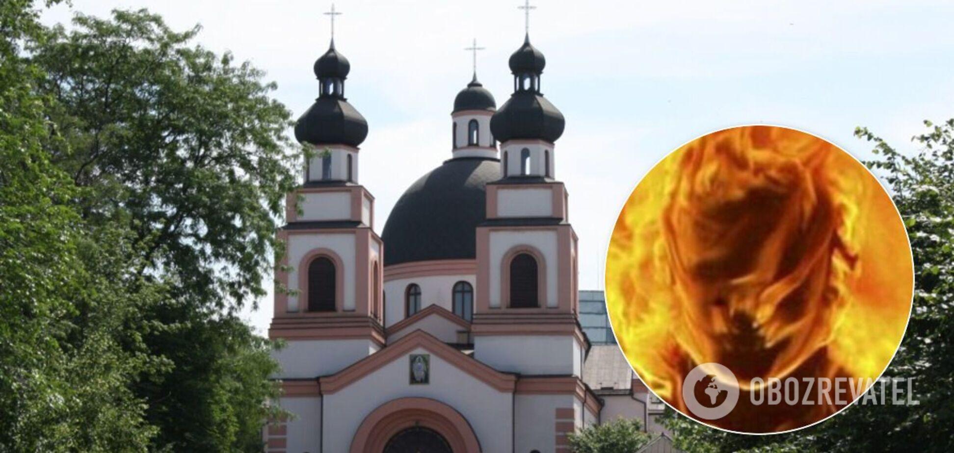 Девушка сожгла себя возле храма в Запорожье