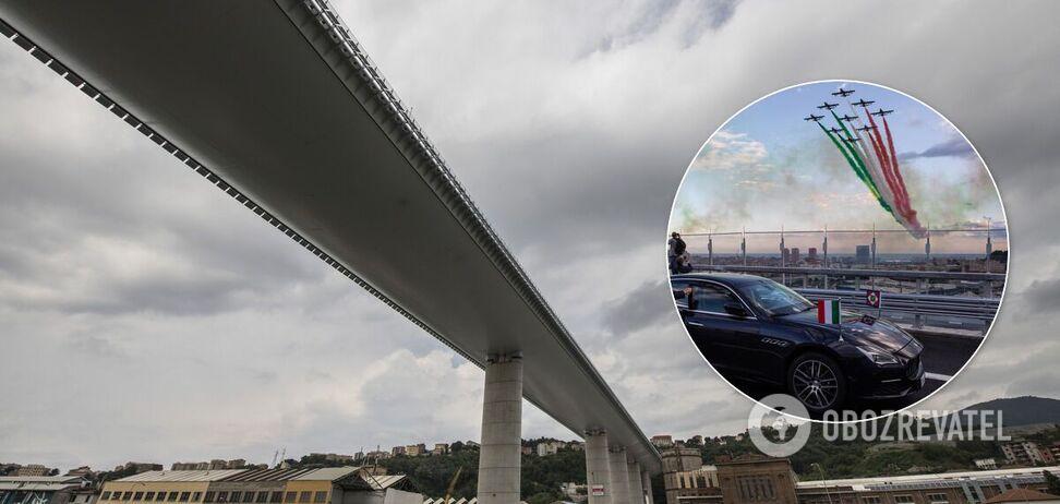 В Генуе на месте моста, где погибли 43 человека, открыли новый: как выглядит. Фото