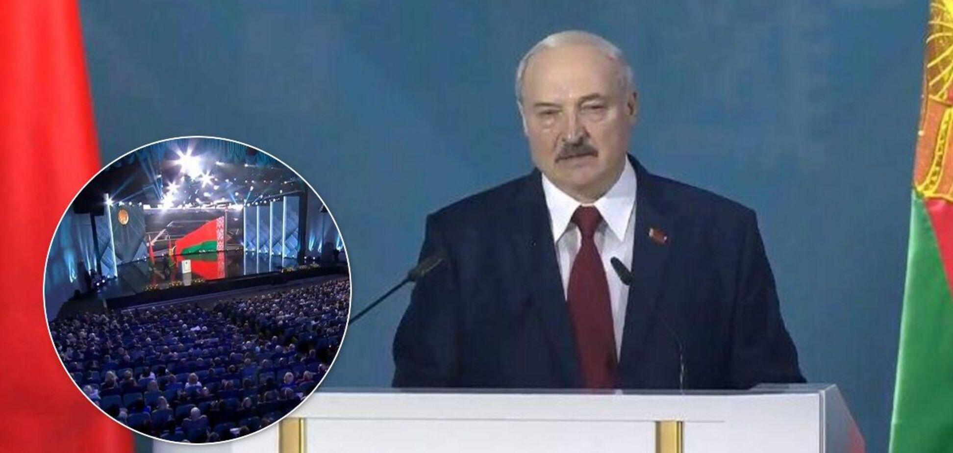 Лукашенко во время обращения к парламенту