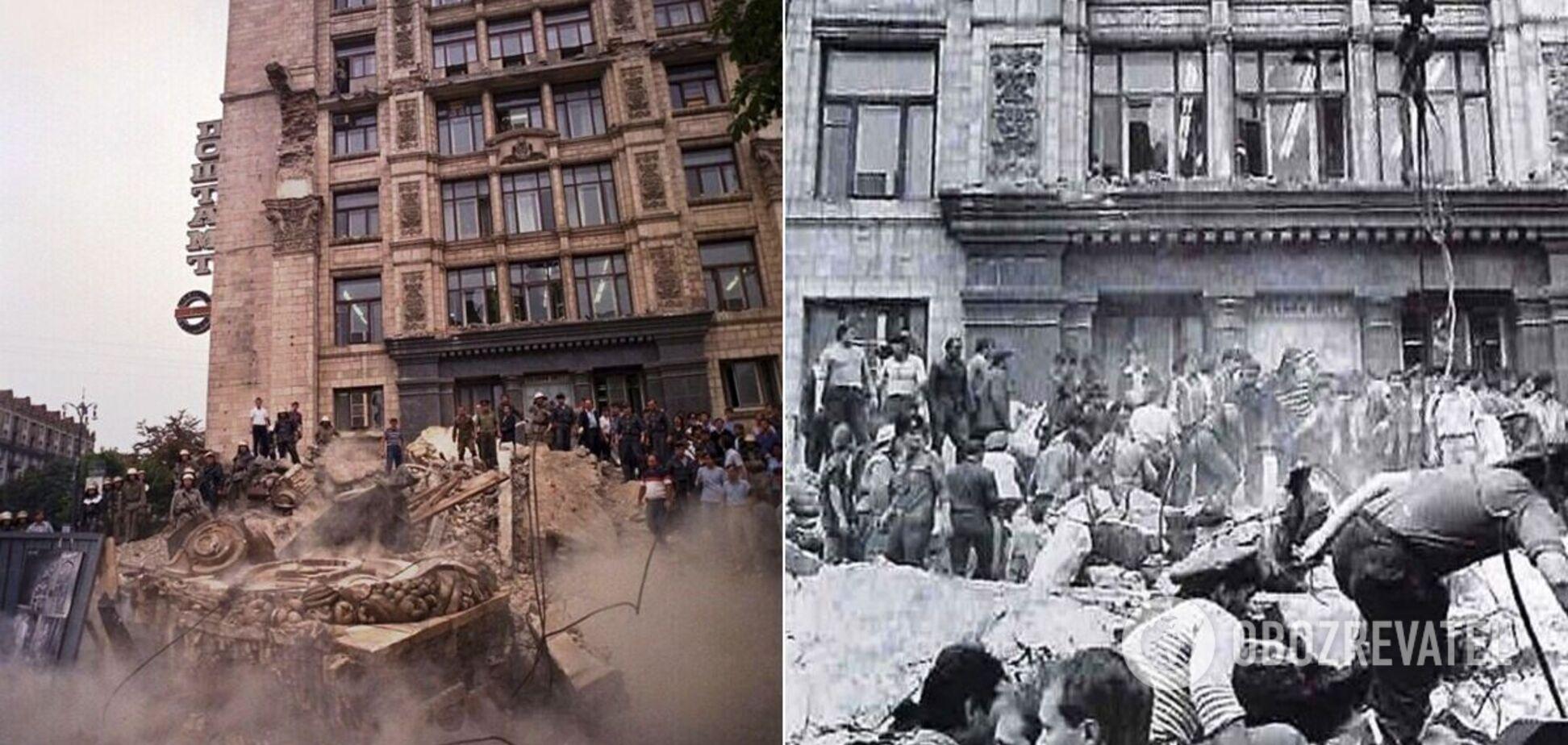 В Киеве 31 год назад колонны главпочтамта задавили 11 человек