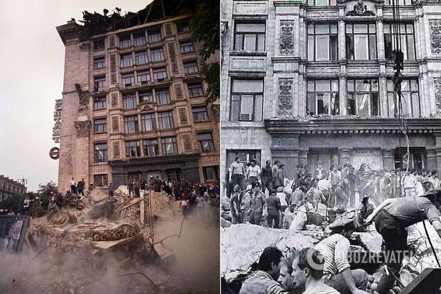У Києві 31 рік тому колони головпоштамту задавили 11 осіб