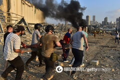 Взрыв в Бейруте в Ливане