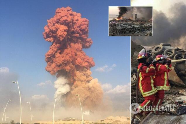 Взрывы произошли в порту Бейрута