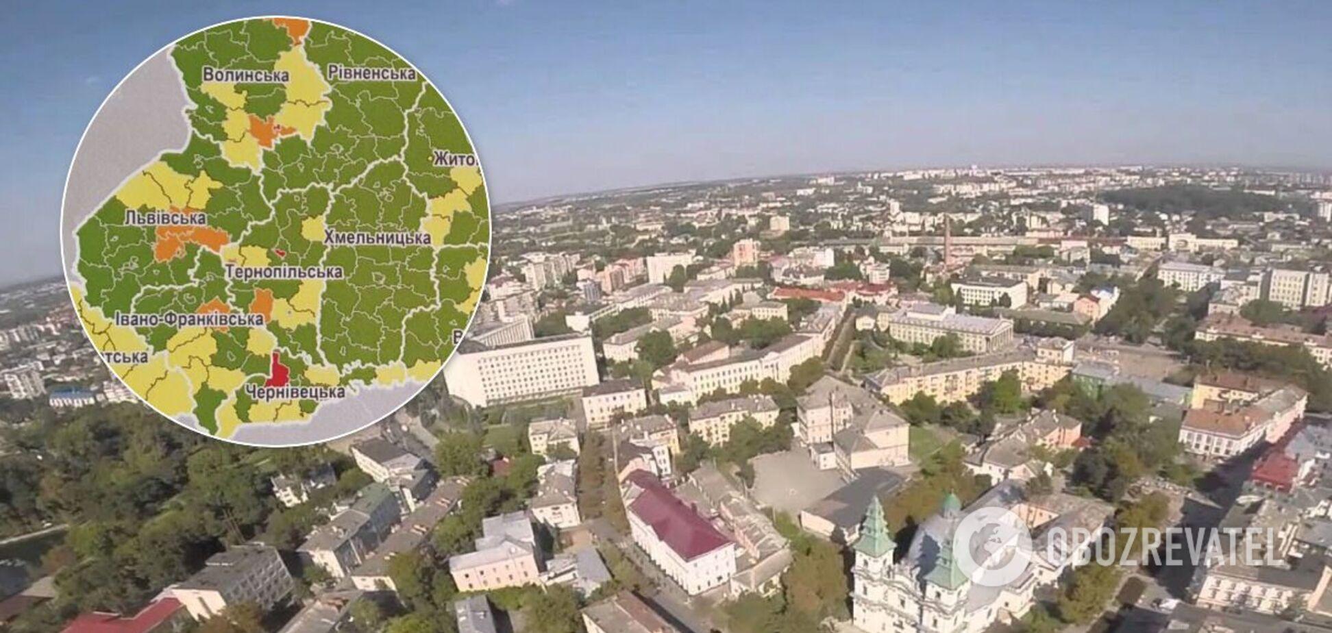 Тернополь попал в 'красную' карантинную зону
