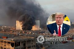 Трамп назвал взрыв в Бейруте 'ужасной атакой'