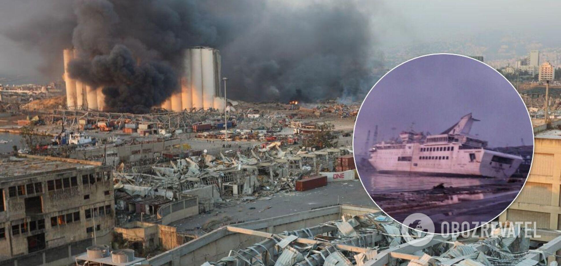 Взрывы в Бейруте затопили корабль