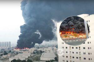 В ОАЭ на популярном рынке произошел масштабный пожар. Фото и видео